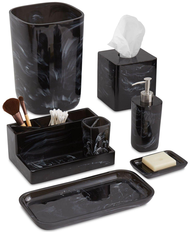 Paradigm Murano Black Bath Accessories Collection Bathroom Accessories Bed Bath Mac Bathroom Accessories Bathroom Accessories Sets Bath Accessories Set