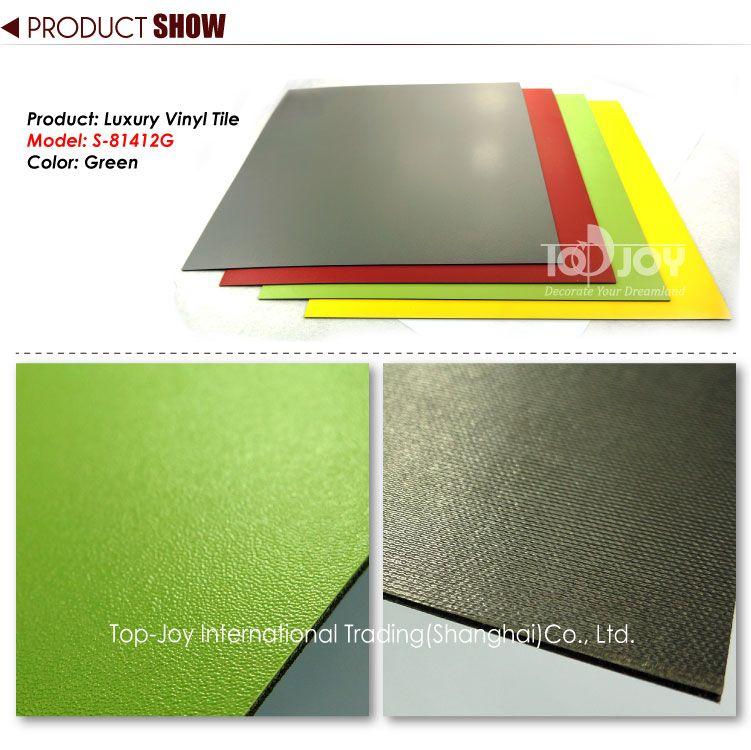 Vibrant Apple Green Solid Color Vinyl Tile Vinyl Flooring Vinyl