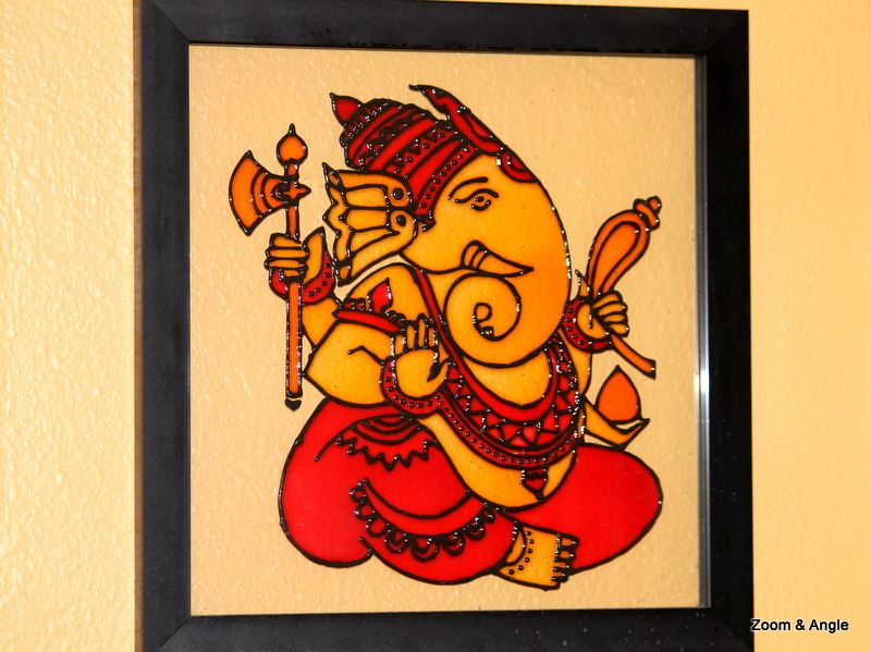 Lord Ganesha Glass Painting Ganapati In 2019 Ganesha Painting