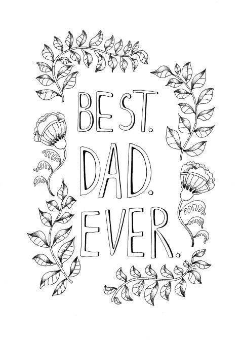 Fatheru0027s Day printable coloring page Best Dad by HaircutForAMoose - best of coloring pages with monkeys