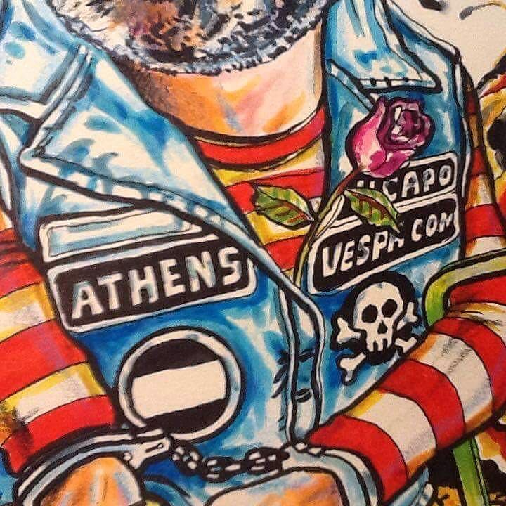 Vespa Cowboys Athens Artist Vagelis Drosis Follow my espa owboys
