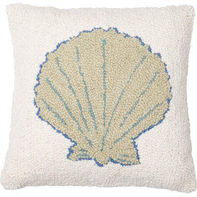Amity Home Sea Shell Wool Throw Pillow