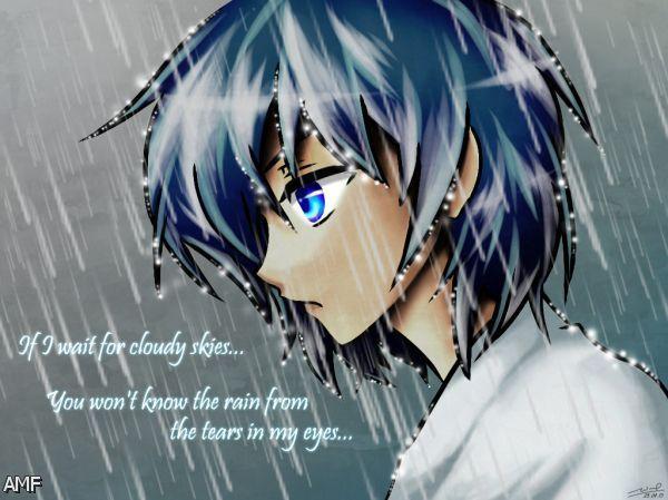 Sad Anime Girl Crying In The Rain Wallpaper Goodpict1st Org