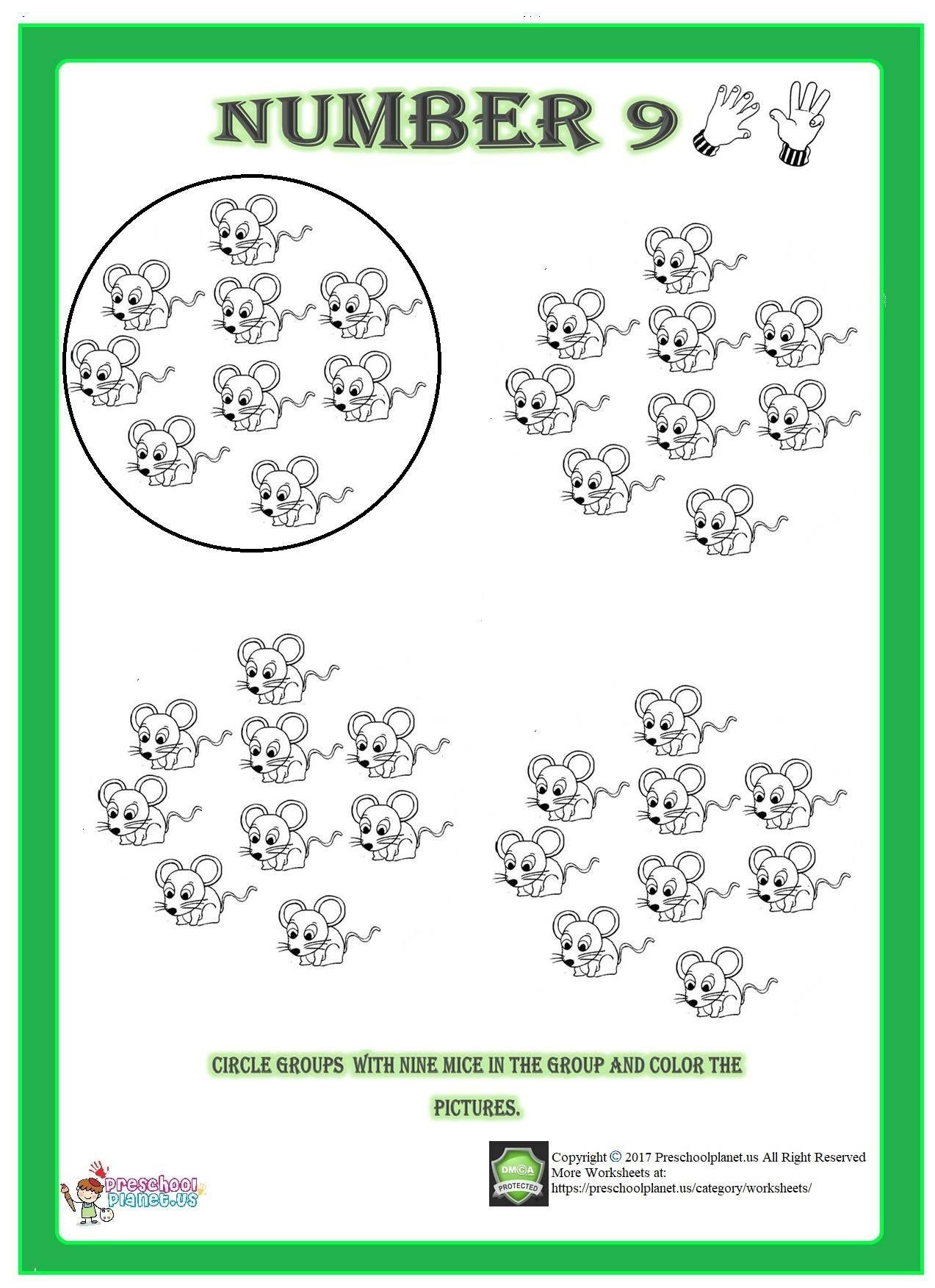 Number 9 Worksheet Worksheets Numbers Preschool Worksheets For Kids [ 1753 x 1273 Pixel ]