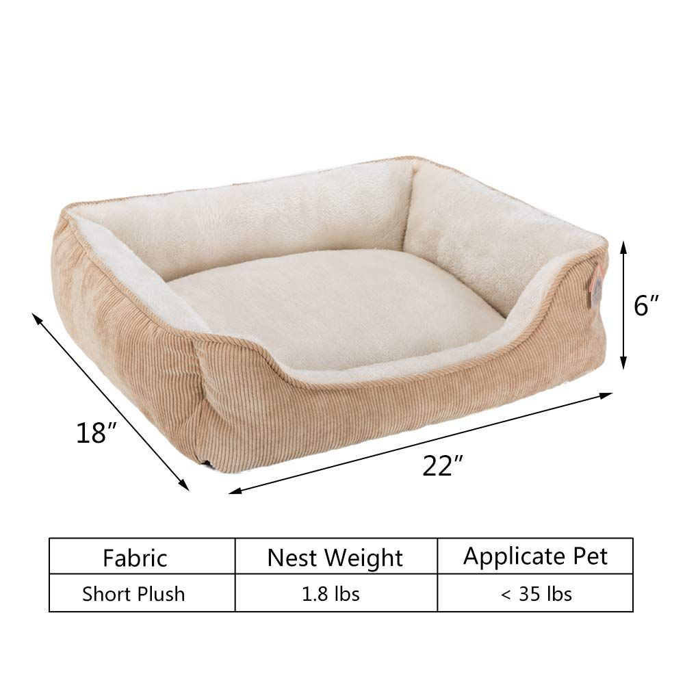 Hollypet Rectangle Plush Dog Cat Bed Selfwarming Pet Bed Pure Creamy Click Image To Review Even More Details Th Cat Accessories Pet Plush Dog Diy Pet Bed