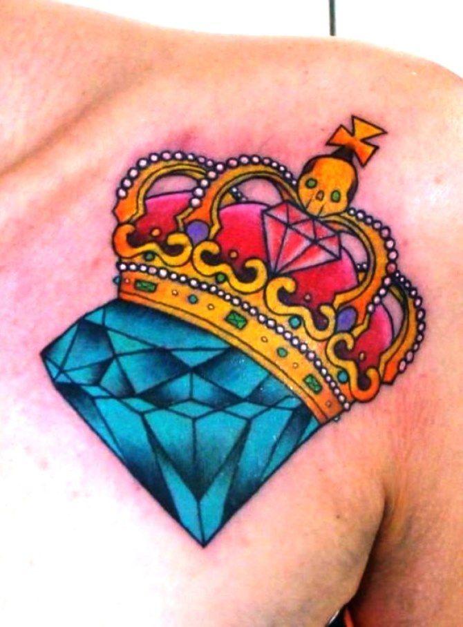 тату цветы черепа бриллианты короны фото студии предлагают провести