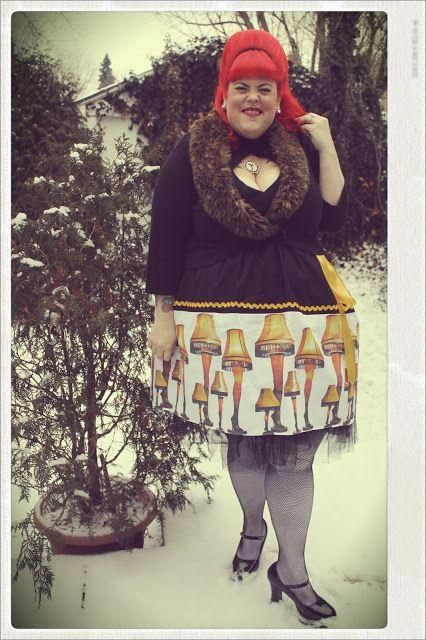 Fatshion Pshow A Christmas Story Leg Lamp Skirt