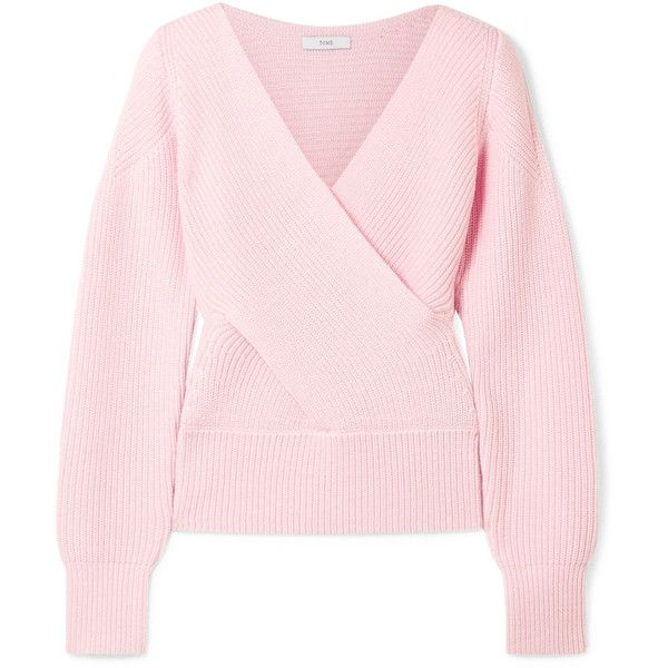 Clearance 2018 New Wrap-effect Cutout Ribbed Merino Wool Sweater - Baby pink Tome Real Cheap Online k3pJDudnX