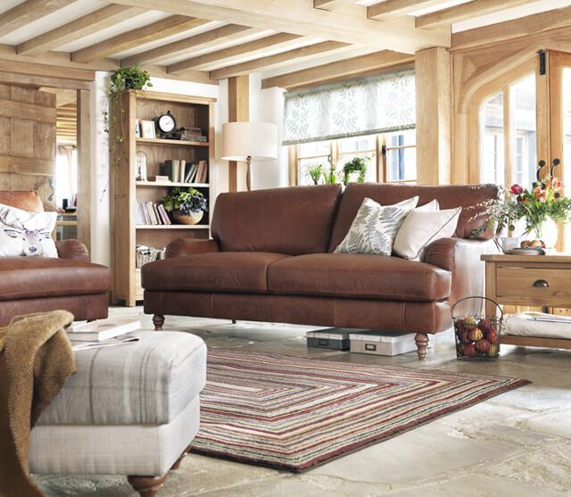 Combine Classic Style With Comfortable Living By Utilising Nature Inspired Accessories Against Brown Living Room Brown Living Room Decor Brown Sofa Living Room