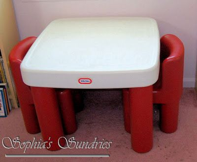 Repainted Little Tikes Table Toddler Table And Chairs Toddler