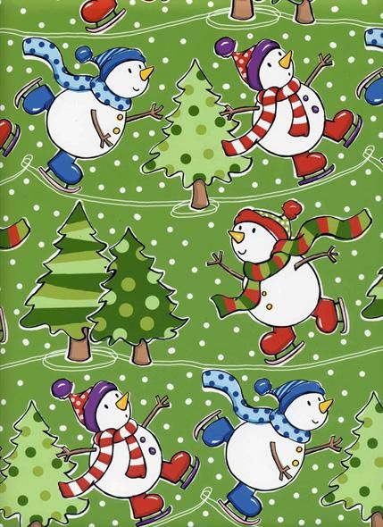 Skating snowmen in this #illustration by Vicky A Fieldhouse