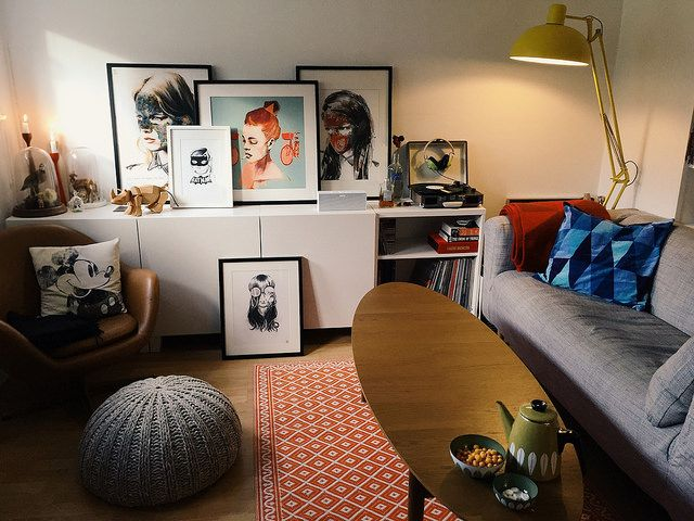 ▲ picture by marie thorsen. #home #interior #design #flat #livingroom #color #retro #art #style #sandrachevrier #leeharding #burntfeather #cathrineholm #secondhand #vintage #fleamarket #turntable