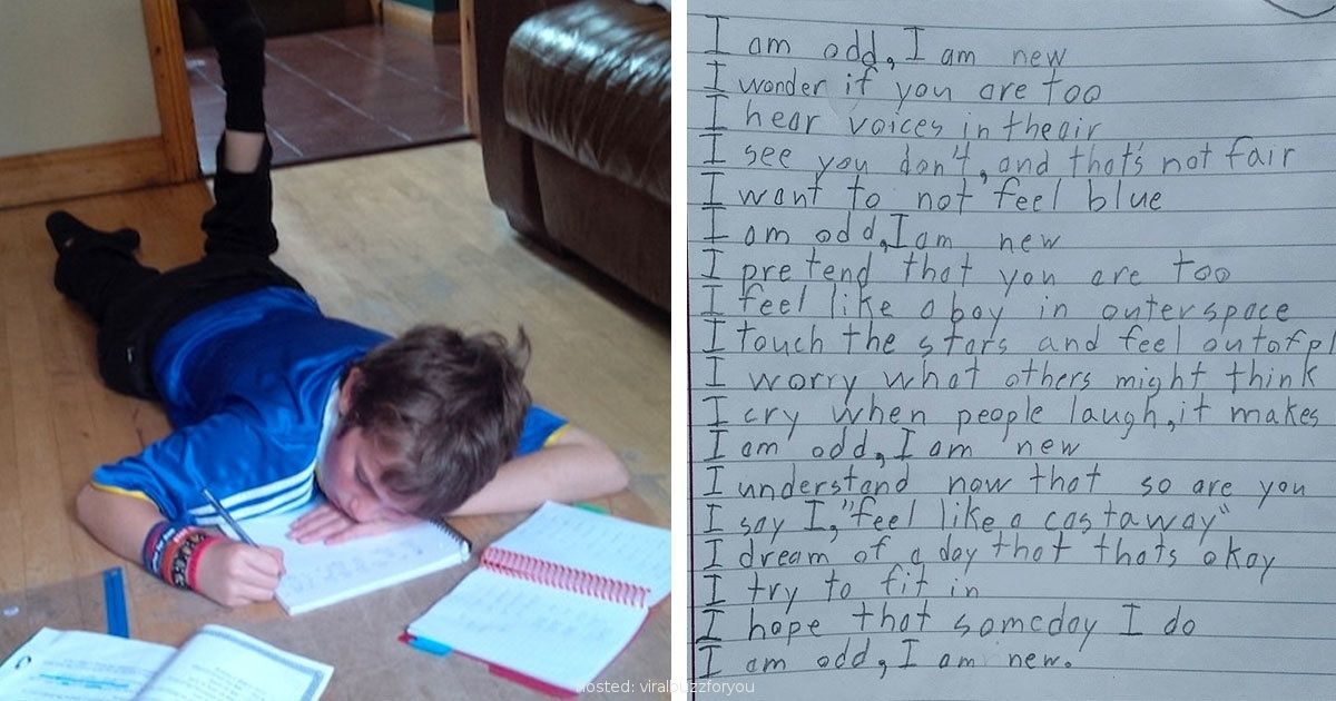 Autistic Boy Writes A Poem For Homework. The Words Left His Teacher Completely Speechless