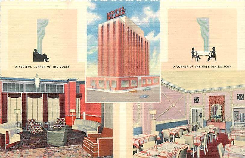Ok Oklahoma City Hotel Black Silver Lounge Dining Room Lobby H50507 Hotel Interiors Oklahoma City Hotels Oklahoma City