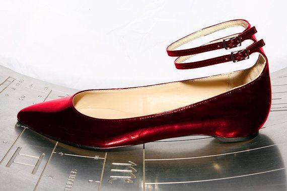 Miriam. Ballerina shoe in samba red by Maria by MariaRivassi, $260.00