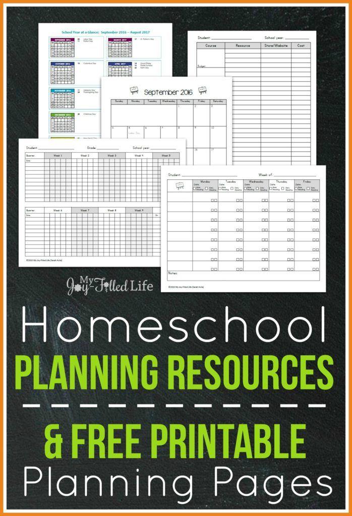 top homeschool planning resources free printable. Black Bedroom Furniture Sets. Home Design Ideas