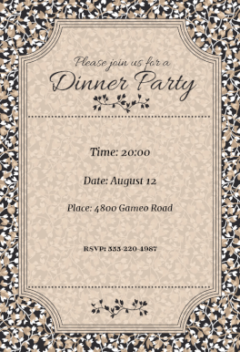 Join Us for a Dinner Party Dinner Party Invitation