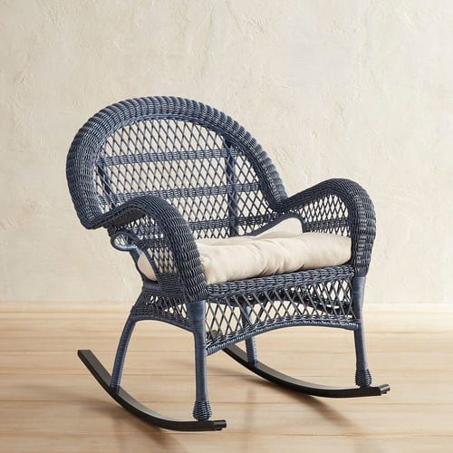 Santa Barbara Blue Rocking Chair With Images Blue Rocking