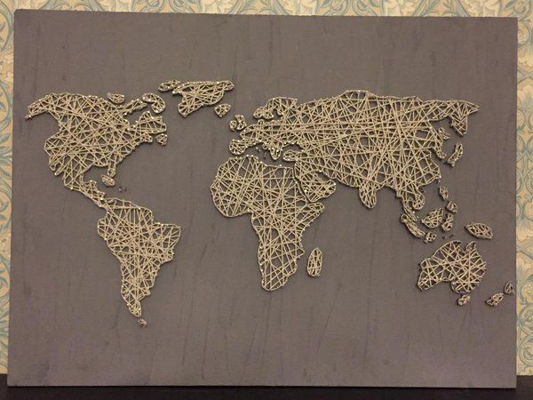 String art world map buscar con google ideas regalos pinterest string art world map buscar con google gumiabroncs Image collections