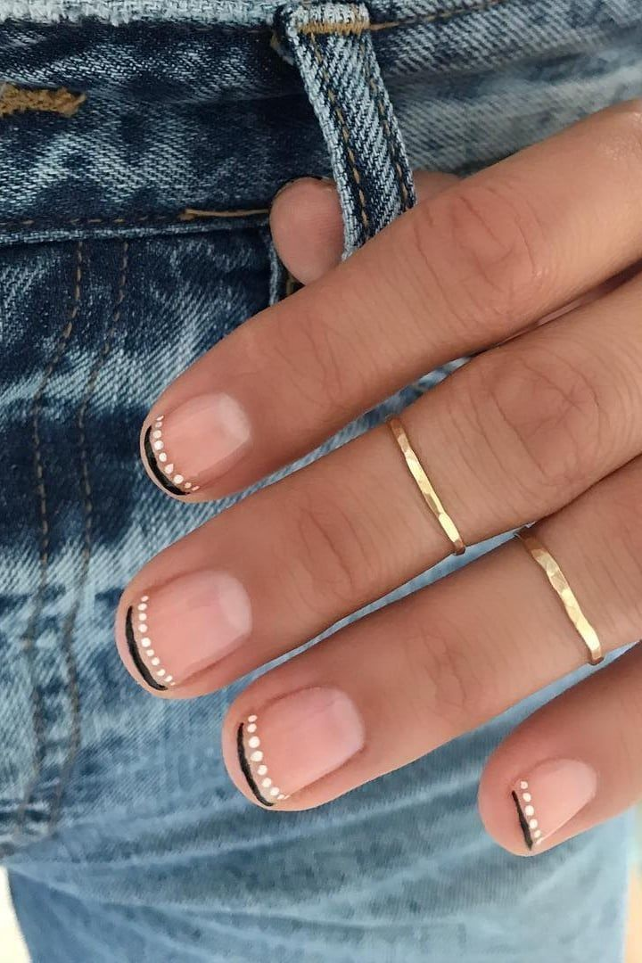 34 Nail Art Ideas So subtle that you can wear them anywhere – even at work – # ……