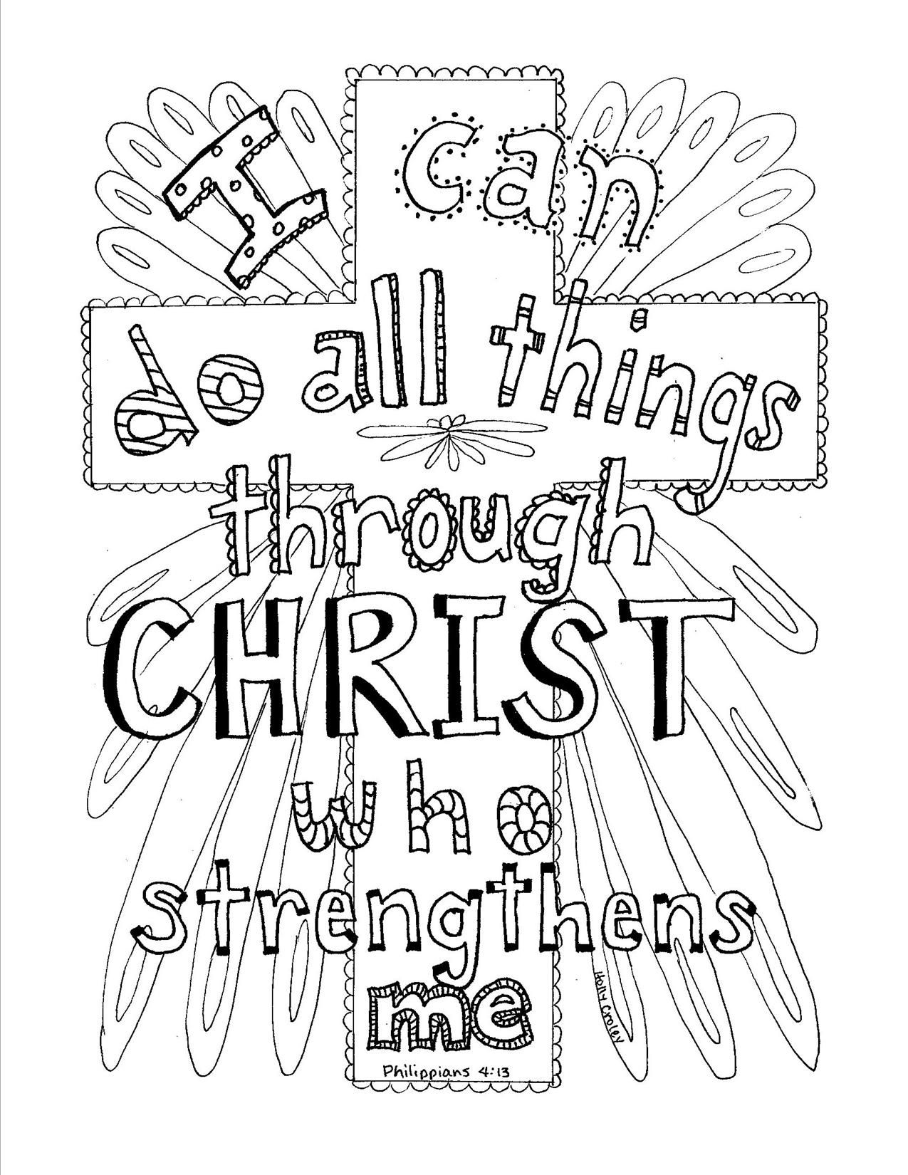 Philippians 4:13 Scripture coloring page | Coloring Book Pages ...