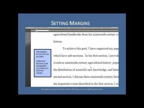 Purdue Owl Mla Formatting The Basics A Video From The Owl At Purdue On Mla Citation Style Writing Outline Essay Writing Tips Argumentative Essay Outline