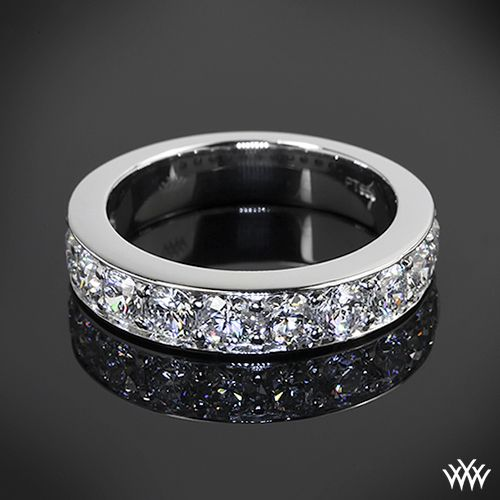 Tiffany style BeadSet Diamond Right Hand Ring is set in platinum