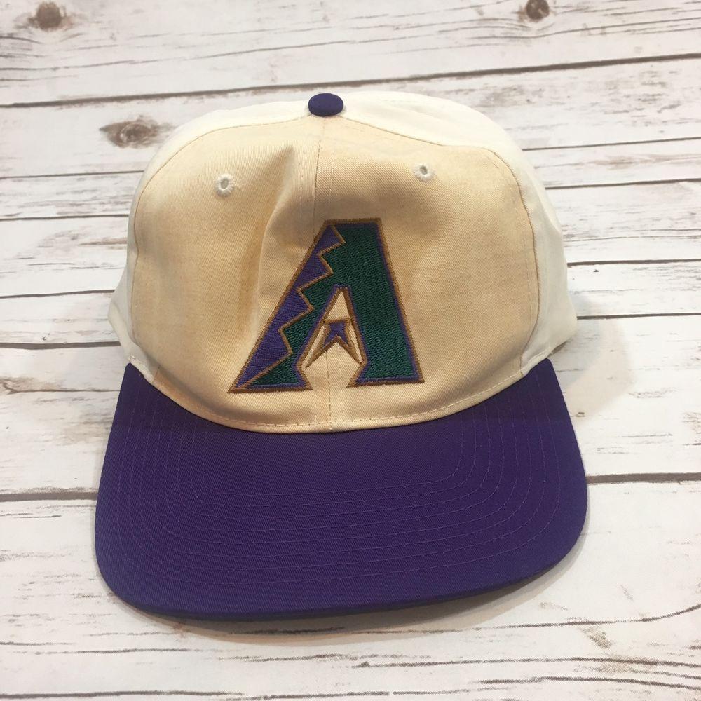 98574d8f0 Vintage 90s Arizona Diamondbacks Snapback Baseball Cap Hat Unworn ...
