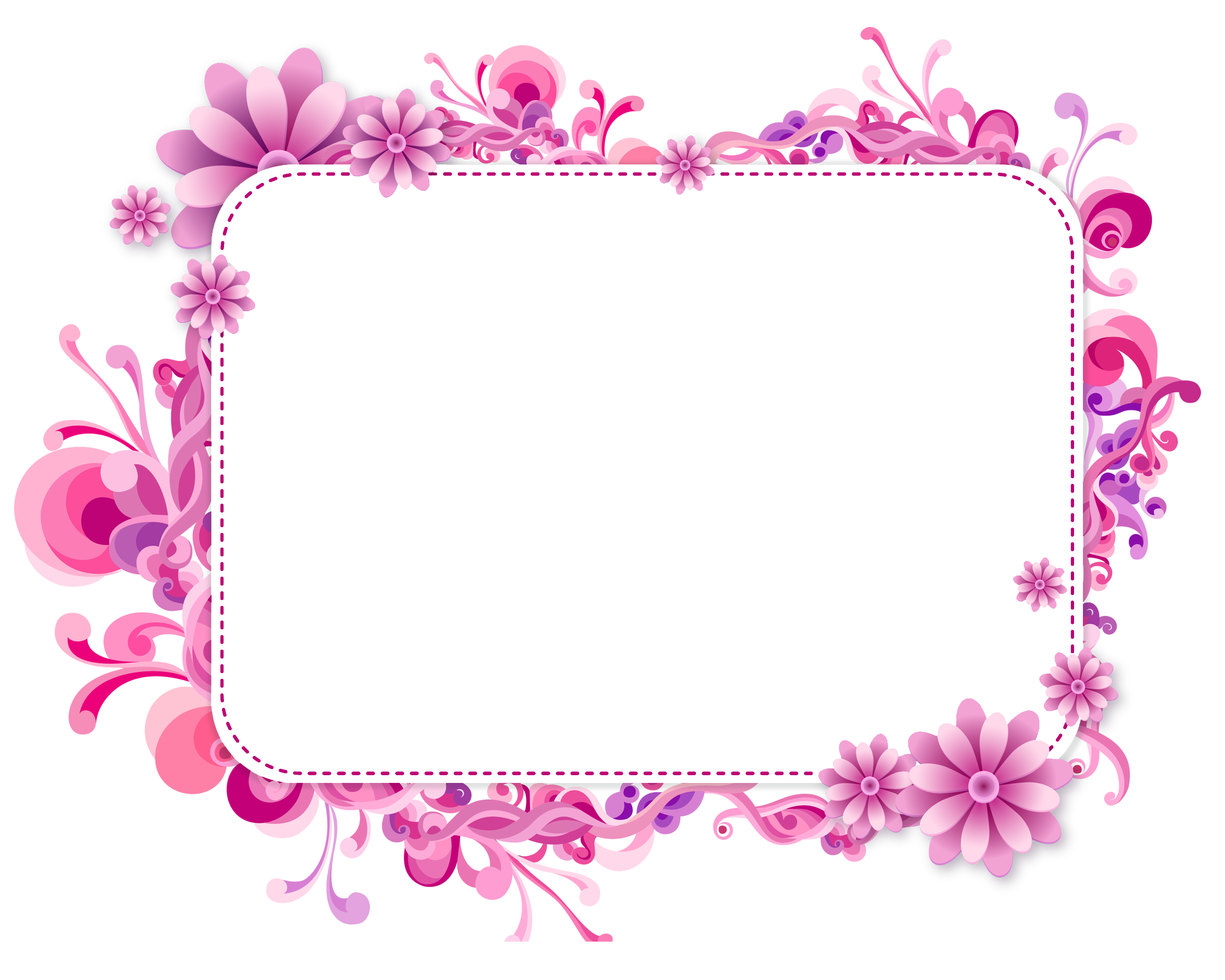 Pink and Purple Vector Frame | Рамочки | Pinterest | Clip ...