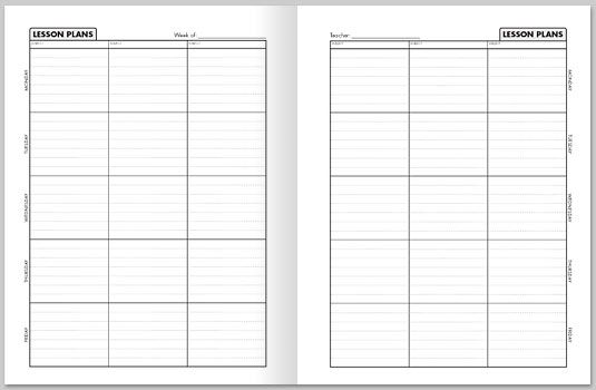 image about Lesson Plan Book Template Printable known as Printable Lesson Planner Trainer Printable Lesson Method