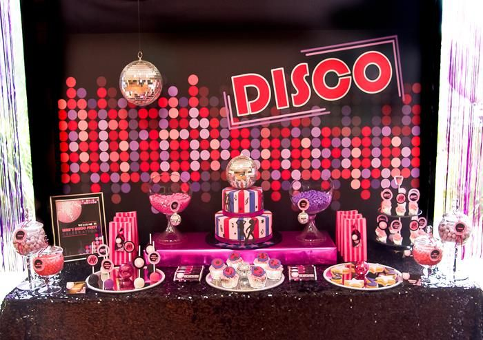 Beautiful Disco Theme Party Decoration Ideas Part - 10: Pink Disco Party Via Karau0027s Party Ideas #disco #PinkParty #planning #idea #
