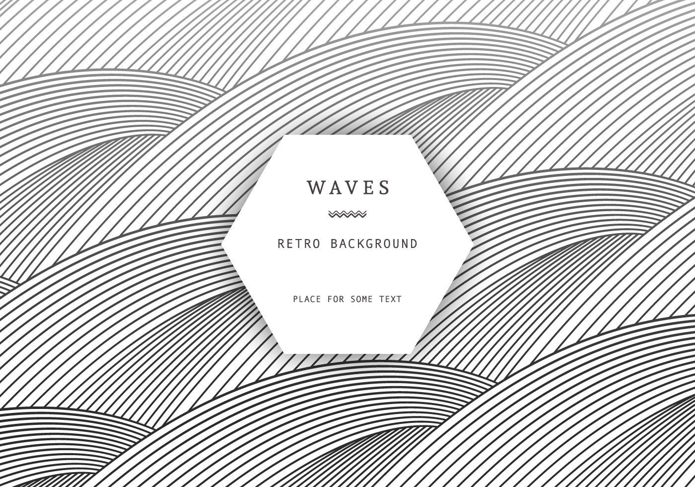 Retro Waves Background Vector Graphic — psychedelic, abstract, gradient,  texture, outline,