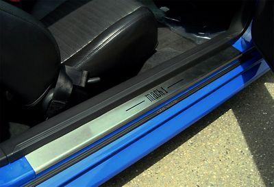 Alterum Mustang Stainless Steel Door Sill Plates Mach 1 22052 94 04 All Mustang Mach 1 Stainless Steel Doors