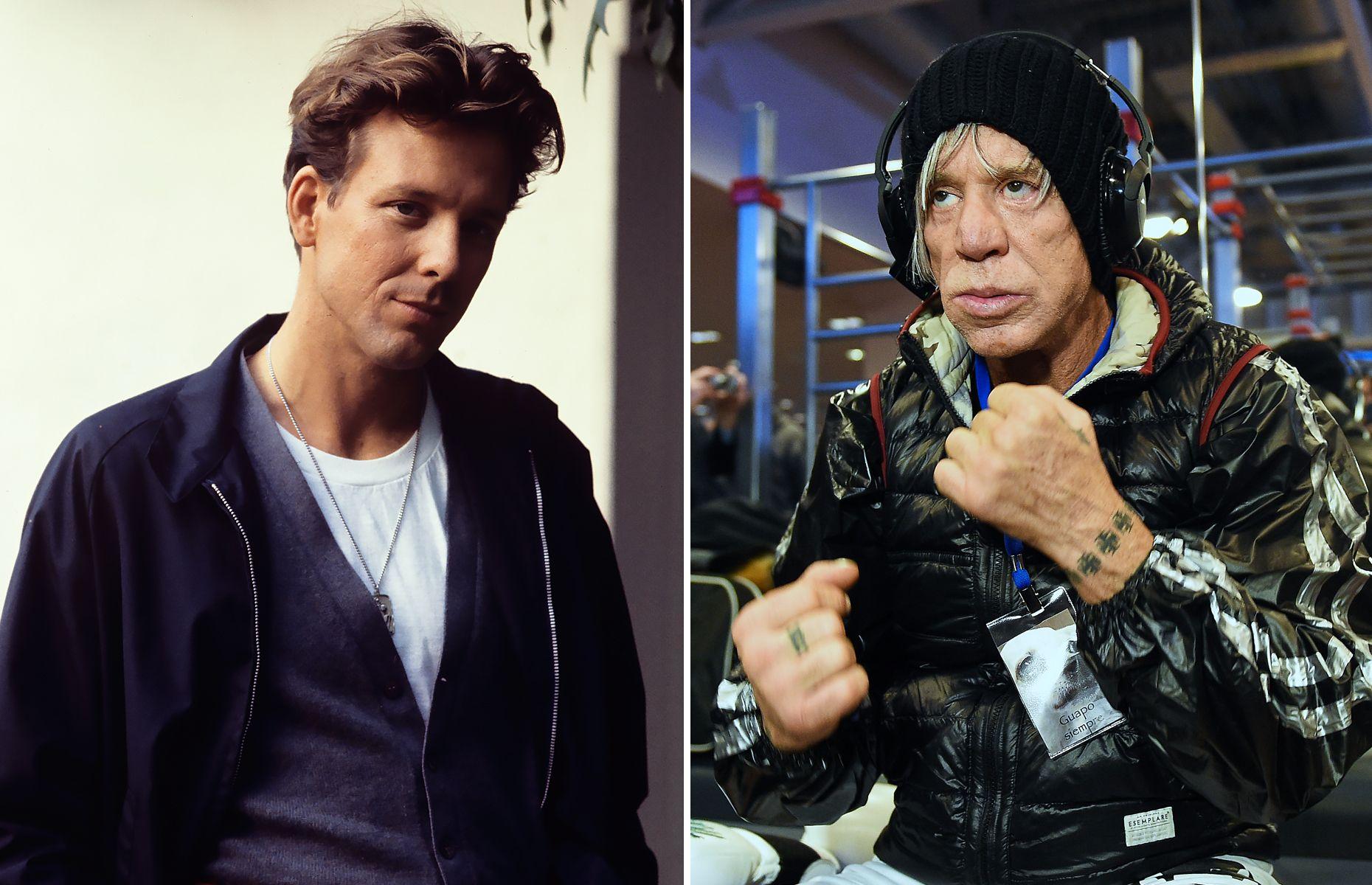 Beroemdheden toen en nu, jemig wat heeft die vent aan zijn gezicht verbouwd, creepy is het nu.....