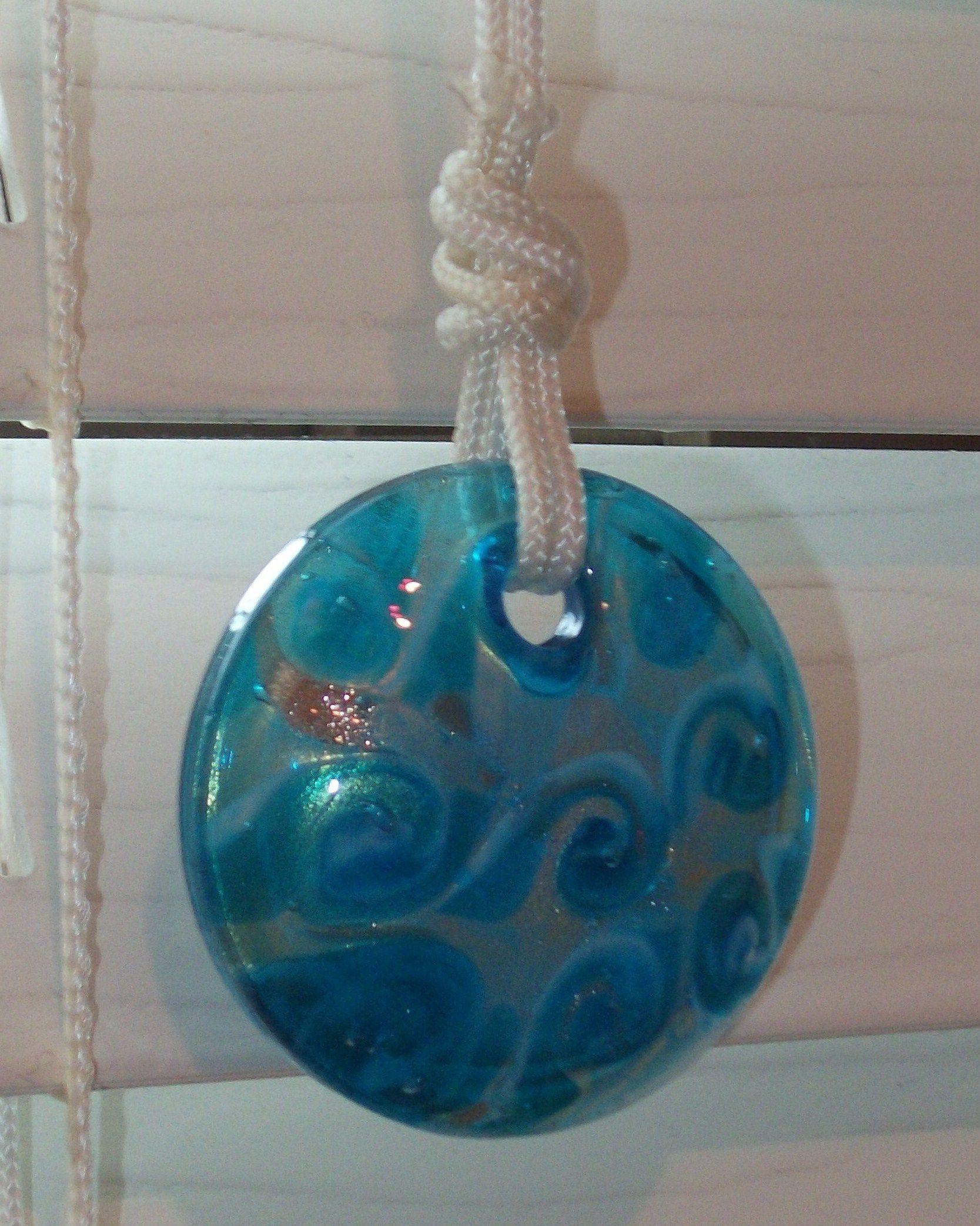 Glass bead for blind pull cord bathroom light pulls