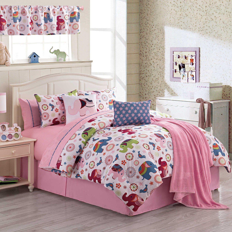 Amazon Teen Girls Elephant and Birds Animal Print Bedding
