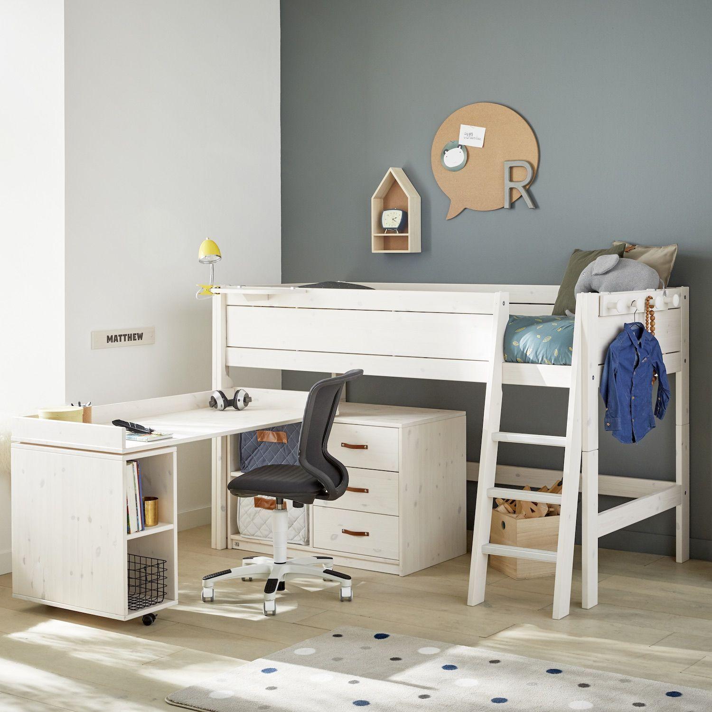 Letto Con Soppalco Bambini letto a soppalco con scrivania rotante e cassettiera study