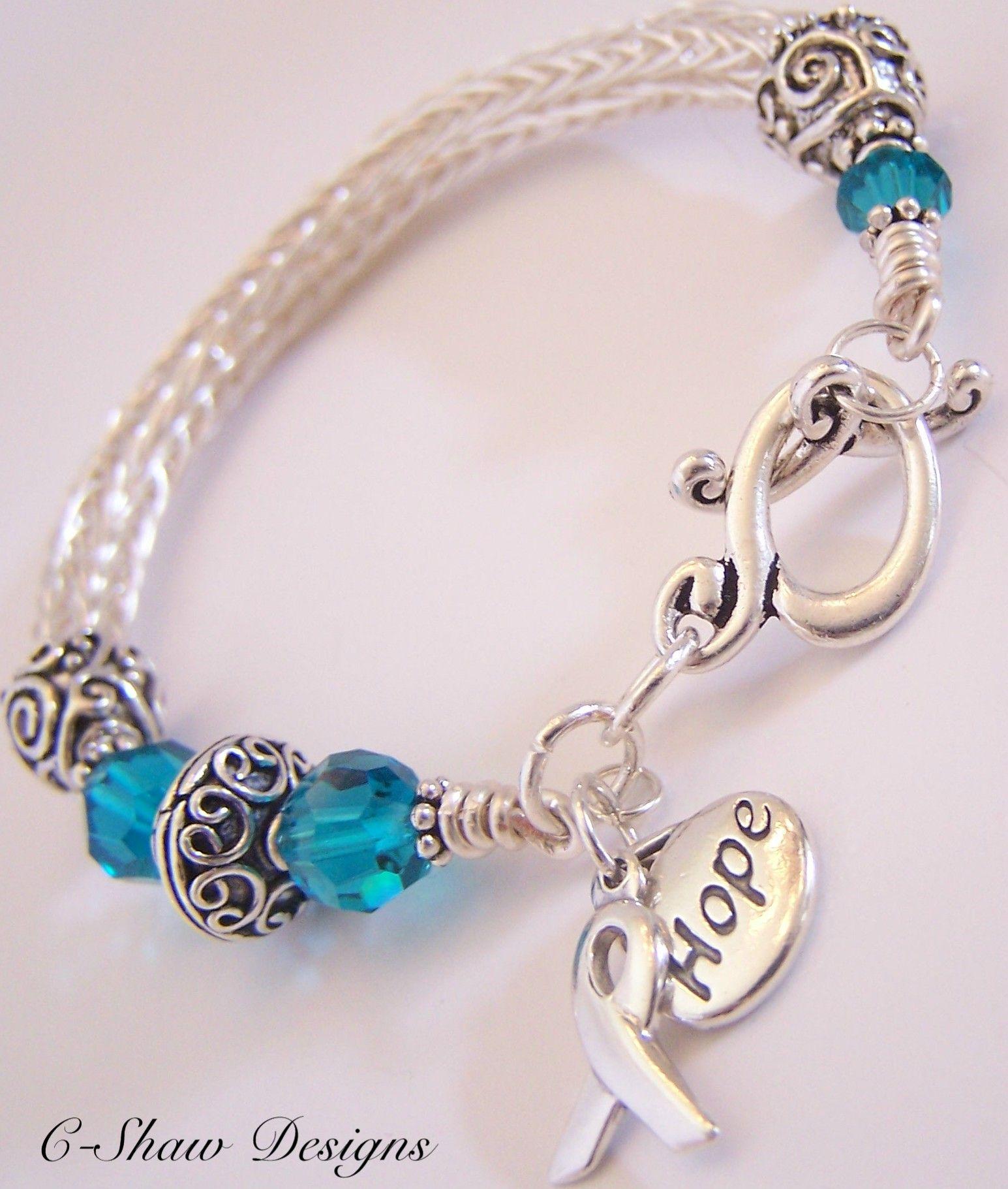 Ovarian Cancer Awareness Bracelet, I am a Survivor!