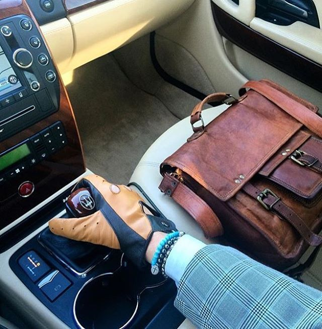 Brown Leather Satchel 15