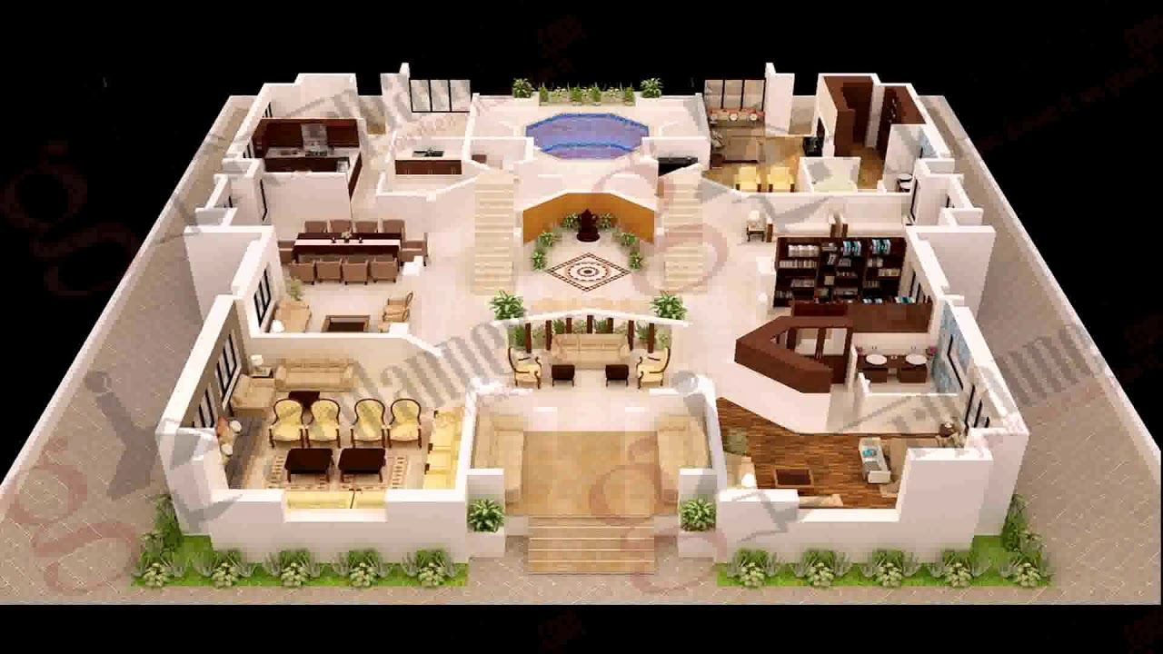 12 Cool Concepts Of How To Upgrade 4 Bedroom Modern House Plans Simphome New House Plans 4 Bedroom House Plans Modern House Plans