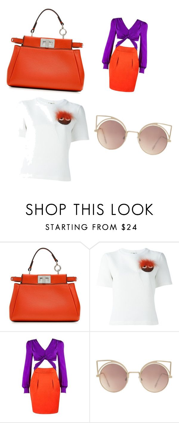 """#fendi#fashion"" by xedice-gyhva ❤ liked on Polyvore featuring Fendi, Gucci and MANGO"