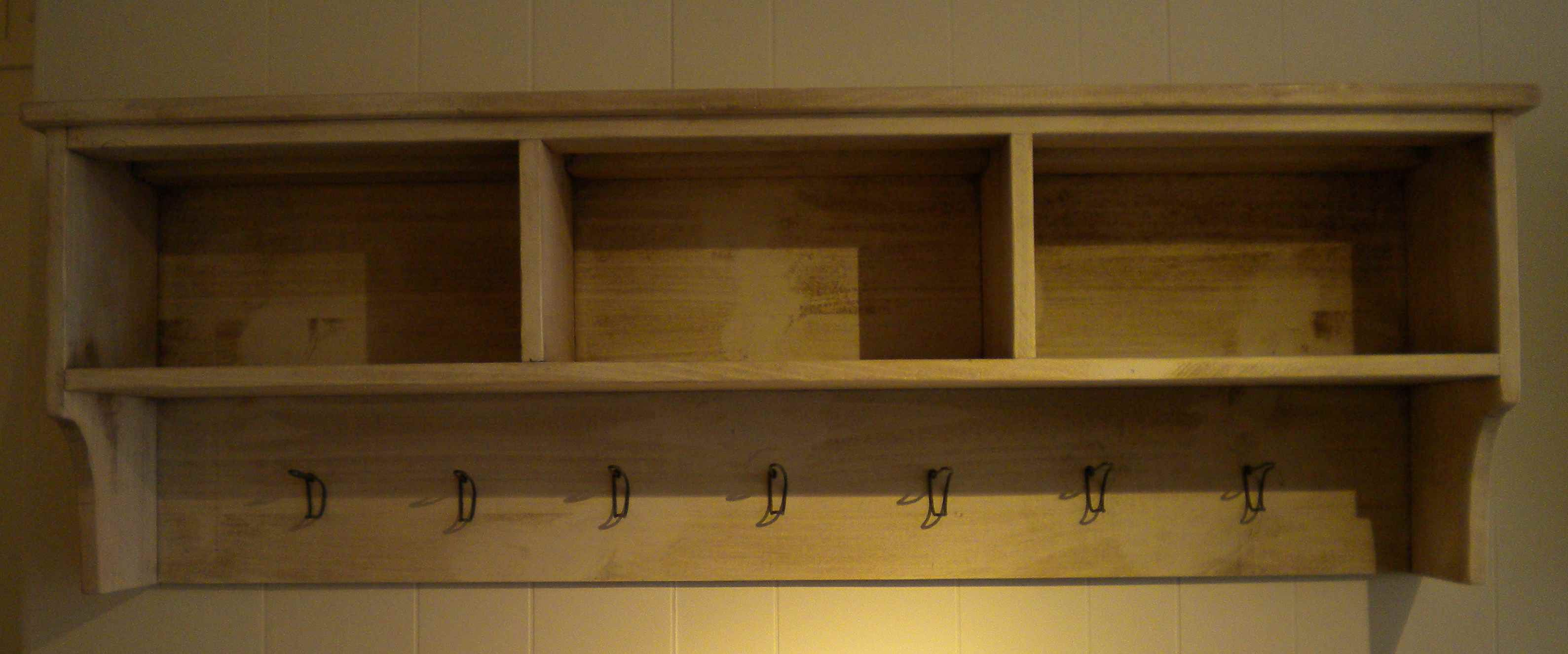 Cubby, Shelf, Coat Hooks