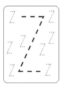 Lowercase Letter Z Worksheet / Free Printable   Preschool and