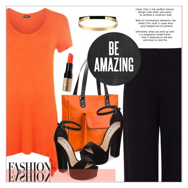 """""""Black Orange"""" by biange ❤ liked on Polyvore featuring Pink Tartan, WearAll, Steve Madden and Bobbi Brown Cosmetics"""