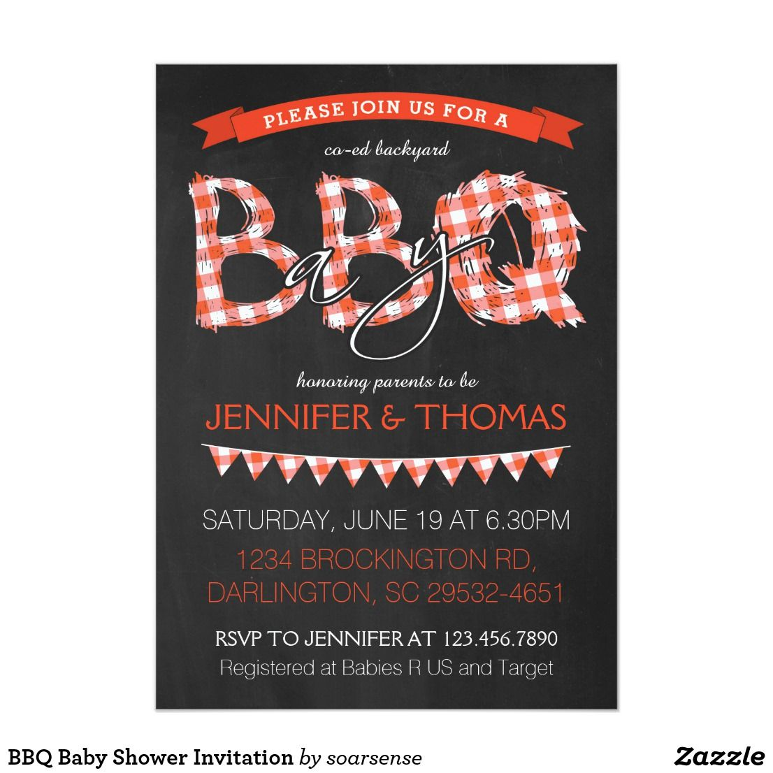 BBQ Baby Shower Invitation | Shower invitations