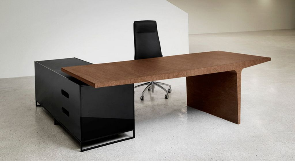 Wonderful Simple And Unique Office Desk And Cabinet