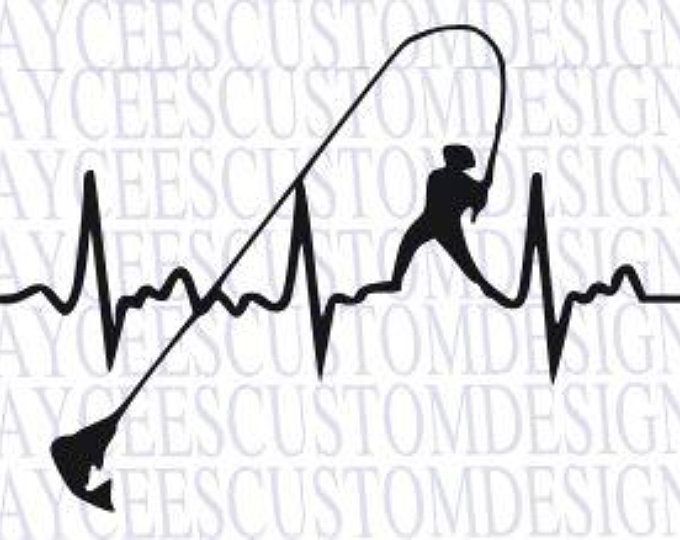Download Bass Heartbeat SVG, Fishing, Love for Fishing | Fish ...