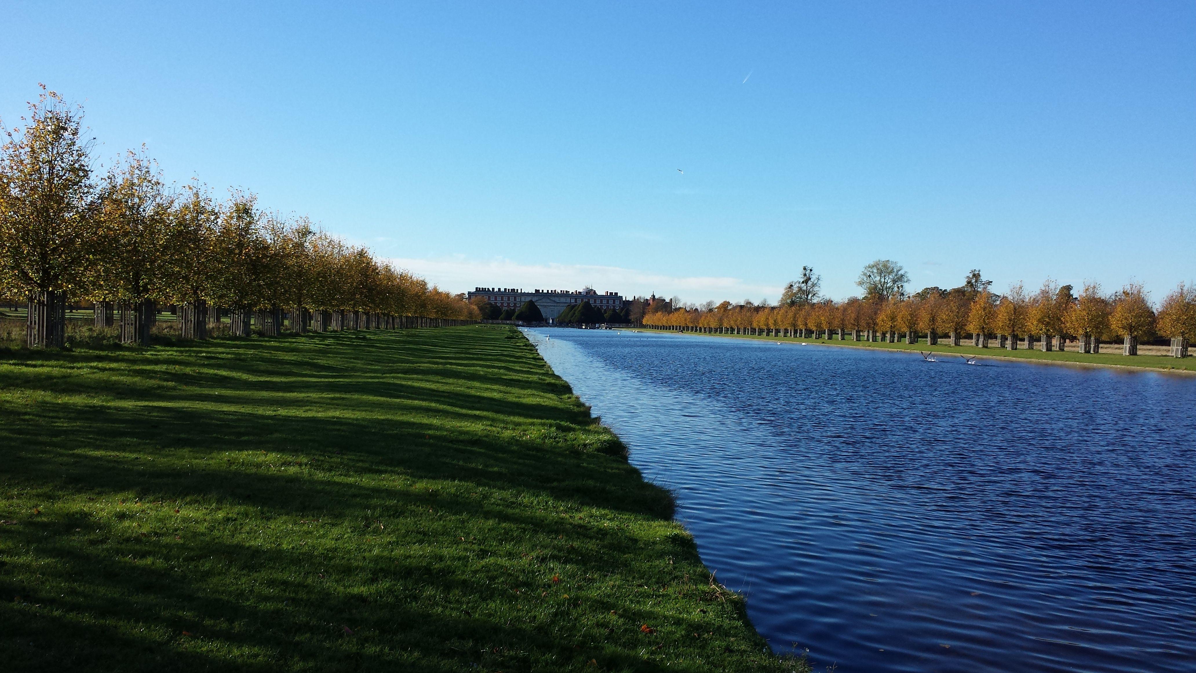 The Long Water Looking Towards Hampton Court Palace