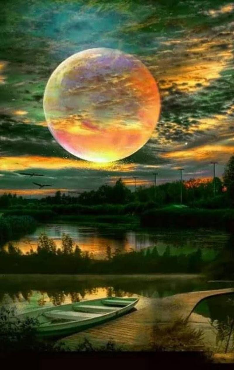 Belles Images Sunrise Sunset Moonlight Magnifique