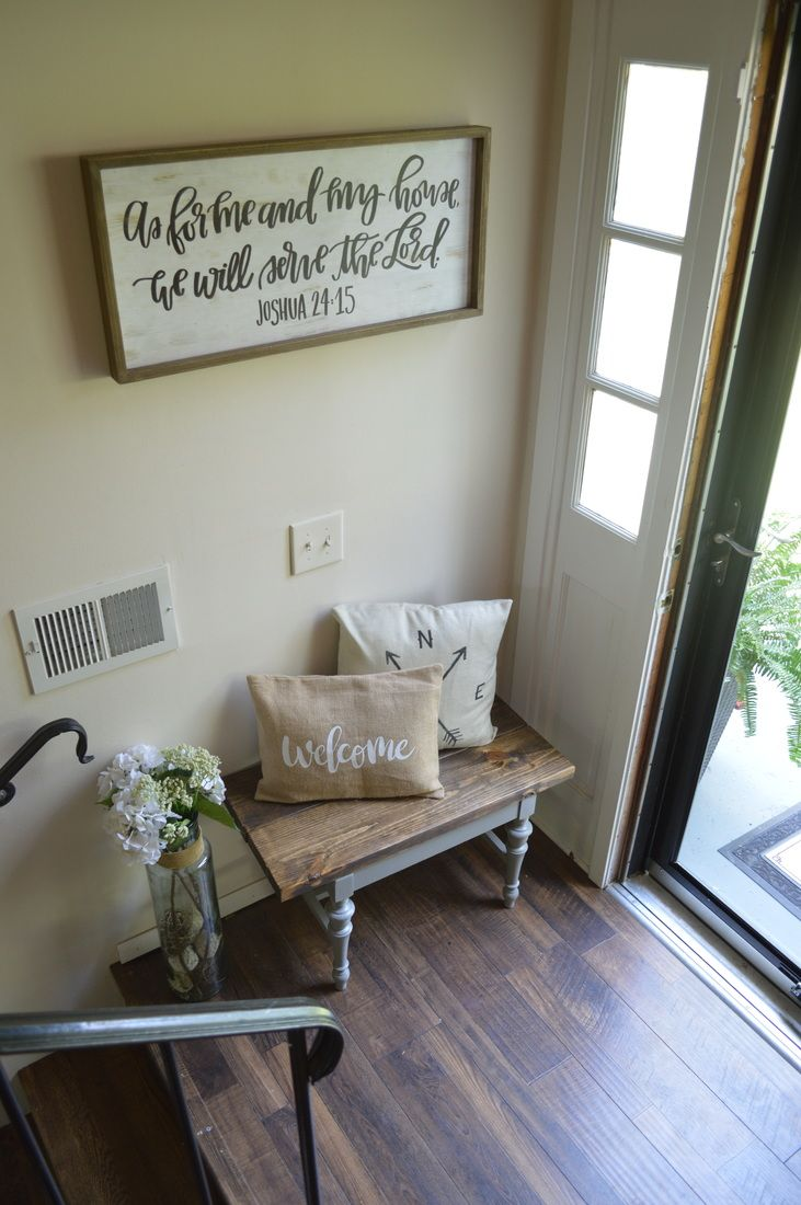 Split Foyer Entryway Urban Farmhouse In 2019 Foyer Entryway